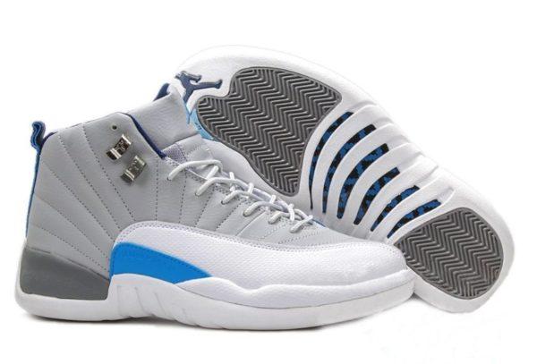 Nike Air Jordan 12 Retro белые с синим (40-45)