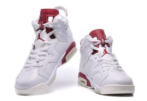 Air Jordan 6 Retro белые с красным (35-45)