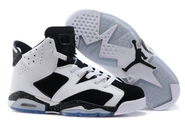 Nike Air Jordan 6 Retro белые с черным (40-44)
