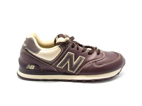 New Balance 574 кожаные коричневые (40-46)