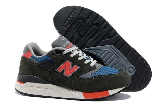 New Balance 998 черные с серым и оранжевым (39-44)