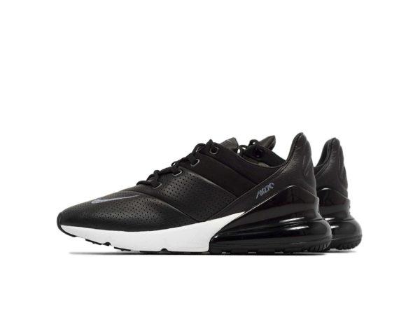 Nike Air Max 270 черно-белые кожа (40-44)