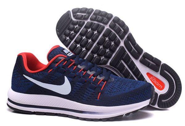 Nike Zoom Vomero 12 синие с красным (40-44)