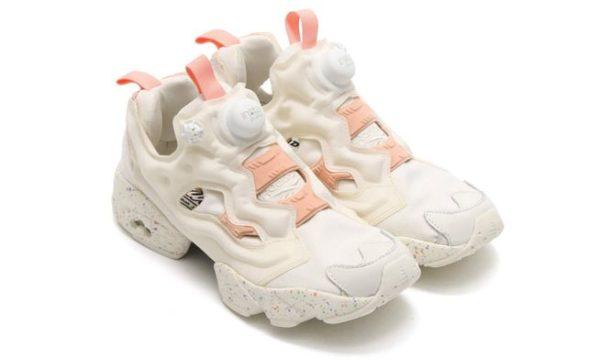 Reebok Insta Pump Fury белые с розовым (35-39)