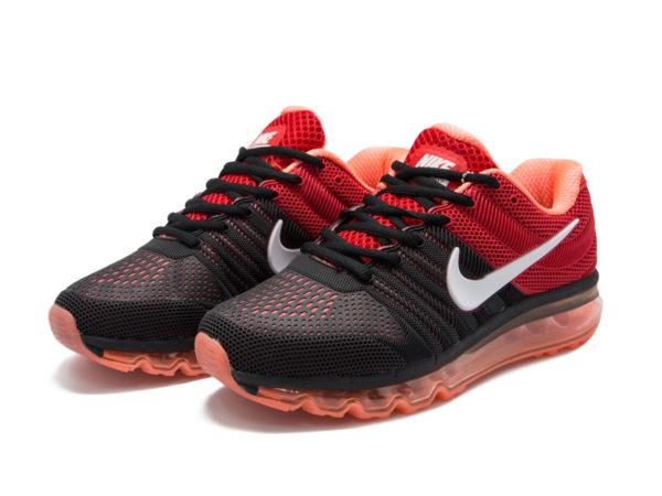 Nike Air Max 2017 черные с красным (40-45)