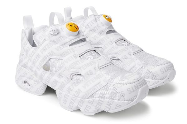 Vetements x Reebok Insta Pump Fury Emoji белые (35-39)