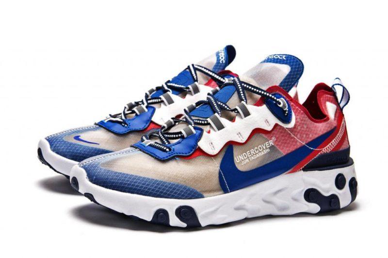 Nike React Element 87  синие с красным (40-44)