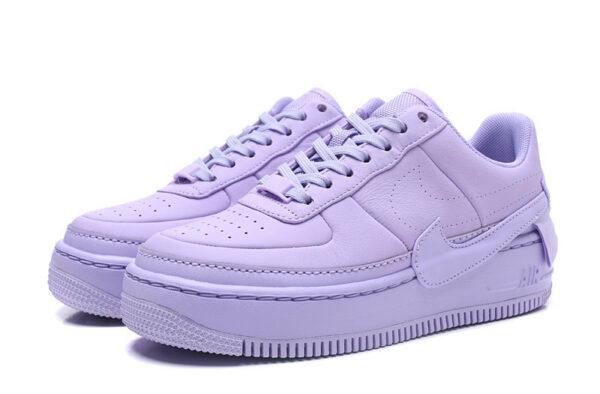 Фиолетовые кожаные кроссовки