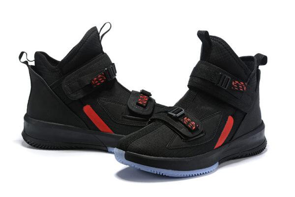 Nike LeBron Soldier 13 черные-красные  нейлон (40-46)