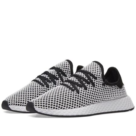 Adidas Deerupt Runner бело-черные мужские-женские (35-44)