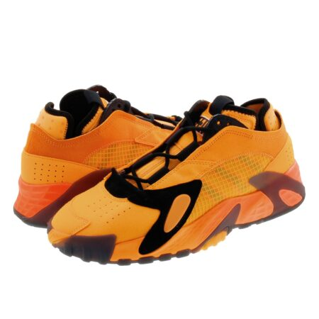 Adidas Streetball оранжевые с чёрным замша-кожа мужские (40-44)