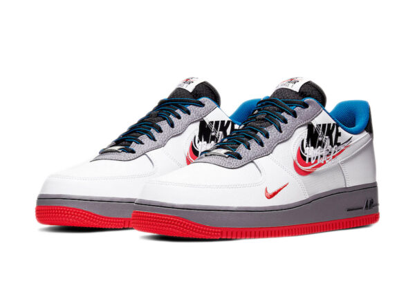 "Nike Air Force 1 LV8 ""Script Swoosh"" белые с серым (40-44)"