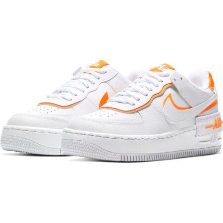 Nike Air Force 1 Shadow бело-оранжевые (35-39)