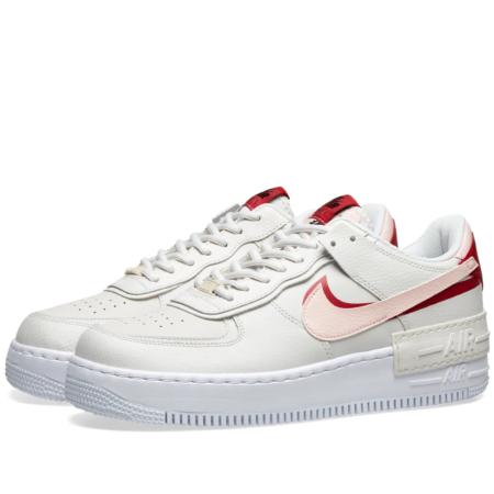 Nike Air Force 1 Shadow бело-розовые (35-39)