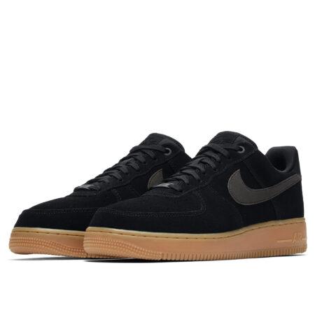 Nike Air Force 1 07 LV8 замшевые черные (40-44)