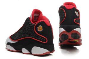 Nike Air Jordan 13 Retro черно-белые с красным (40-45)