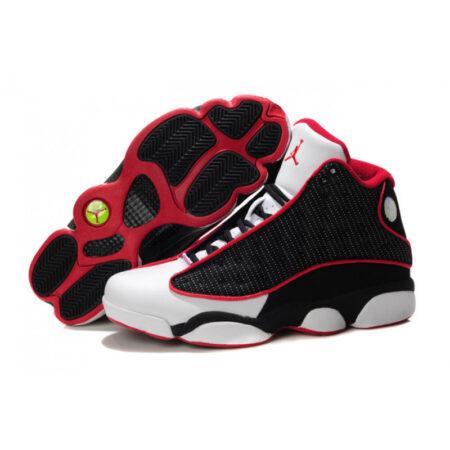 Nike Air Jordan 13 Retro черно-белые с красным мужские (40-45)