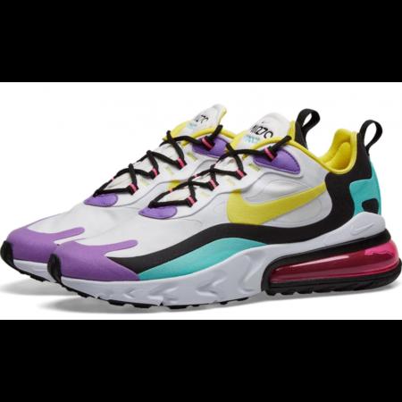 Nike Air Max 270 React белые-разноцветные (35-39)