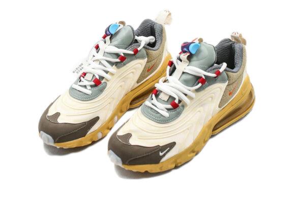 "Nike Air Max 270 React ""Travis Scott"" бежевые с коричневым мужские-женские (35-44)"