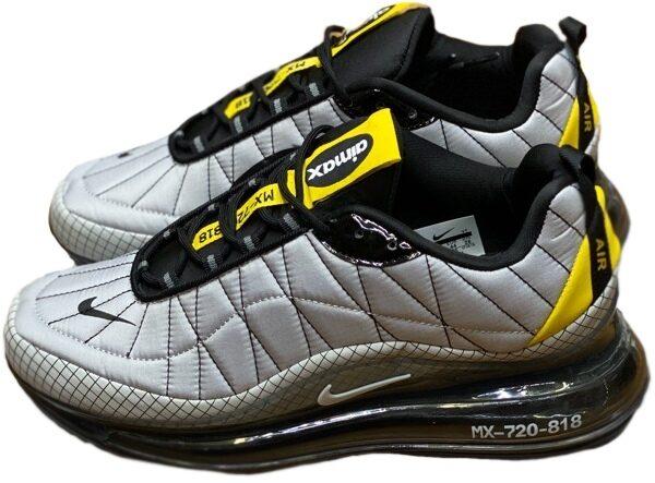 Nike Air Max 720 818 серые с желтым мужские (40-44)