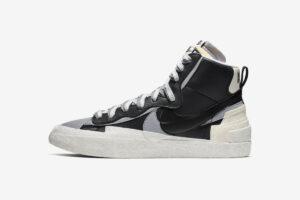 Nike Sacai Blazer Mid черные белые серые (40-44)