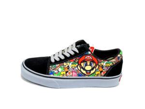 Vans Mario черные с белым (35-39)