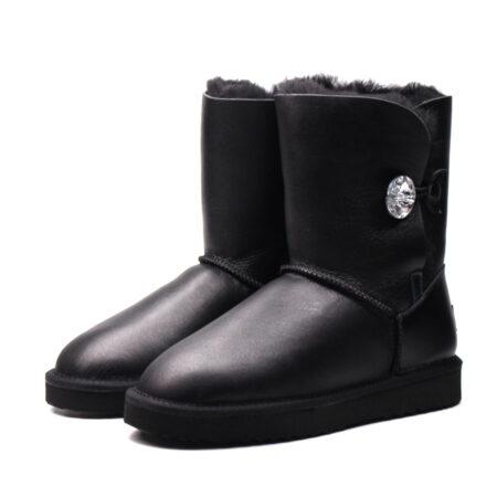 Зимние Ботинки UGG Bailey Bling с мехом черные (35-40)