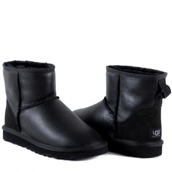Зимние Ботинки UGG Classic Bailey Mini с мехом черные (35-40)