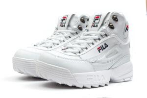 Зимние Fila Disruptor 2 с мехом белые (35-40)