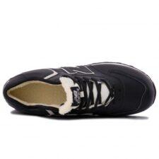 Зимние New Balance 574 Black с мехом черные с белым (40-45)