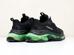 Balenciaga Triple S черные с зеленым  (36-40)