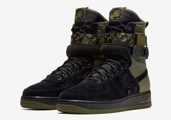 Nike Air Force 1 SF Mid черно-зеленые (40-44)