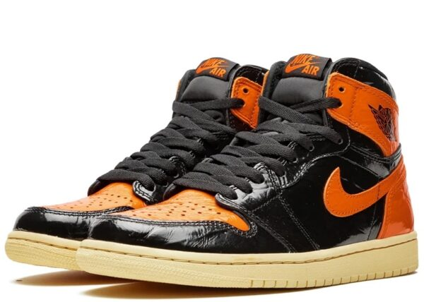 Nike Air Jordan 1 Shattered Backboard 1.0 черно-оранжевые (35-45)