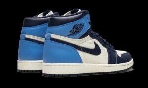 Nike Air Jordan 1 Obsidian сине-бело-голубые (35-44)