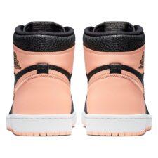 Nike Air Jordan 1 Retro черно-бело-розовые (35-39)