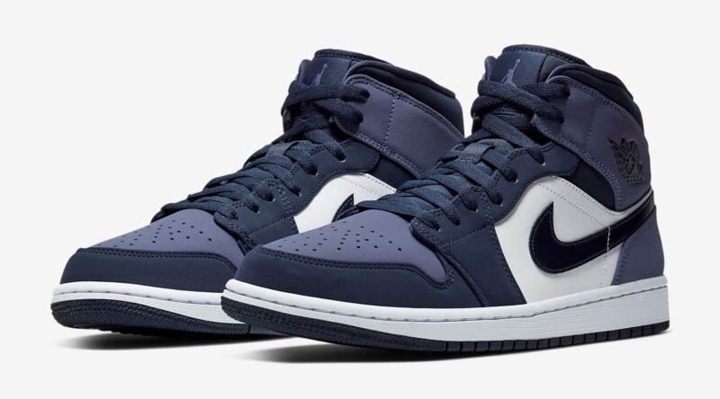 Nike Air Jordan 1 Retro фиолетово-белые (35-39)