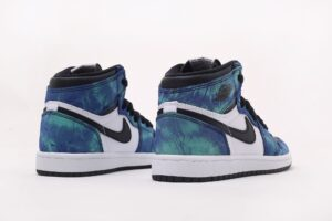 Nike Air Jordan 1 Retro High og Tie-Dye сине-бело-черные (35-44)