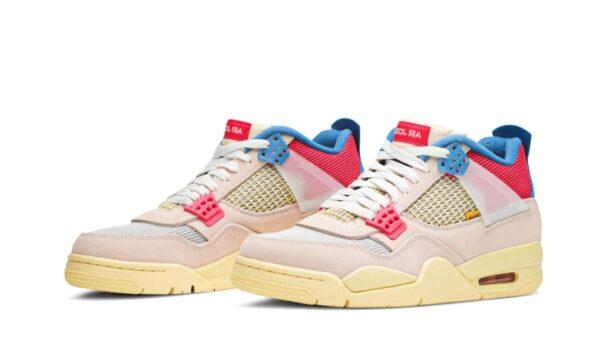 Nike Air Jordan 4 Retro белые с красно-синим (40-44)