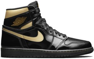 Nike Air Jordan 1 Retro High Black Metallic Gold черно-золотые (35-44)