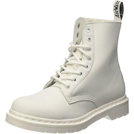Зимние ботинки Dr. Martens 1460 с мехом белые кожаные женские (35-39)